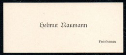 B7296 - Frankenau - Helmut Naumann  - Visitenkarte - Visitenkarten