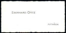 B7298 - Mittweida - Eberhard Opitz  - Visitenkarte - Visitenkarten