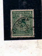 GERMANY GERMANIA GERMAN REICH EMPIRE IMPERO 1923 NUMERAL CIFRA 5pf USATO USED OBLITERE' - Germania