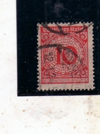 GERMANY GERMANIA GERMAN REICH EMPIRE IMPERO 1923 NUMERAL CIFRA 10pf USATO USED OBLITERE' - Germania