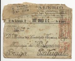 Cover * Brazil * 1929 * Registered * Casa Valerio * Machine Stamp * Rio De Janeiro To Palmeira (Portugal) - Brazil