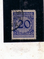 GERMANY GERMANIA GERMAN REICH EMPIRE IMPERO 1923 NUMERAL CIFRA 20pf USATO USED OBLITERE' - Germania