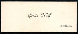 B7301 - Mittweida - Gerda Wolf - Visitenkarte - Visitenkarten