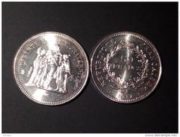 Monnaie De France 50 Francs En Argent Type Hercule 1977 - K. 10 Francs
