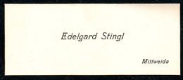B7303 - Mittweida - Edelgard Stingl - Visitenkarte - Visitenkarten