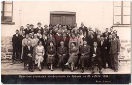BULGARIA 1934 TRIAVNA SCHOOL TEACHER'S CONFERENCE RPPC Ab620 - Bulgarie