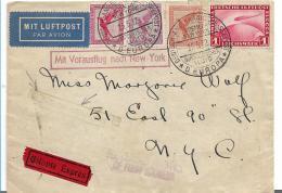 W-L078 /  DT. REICH - Per Dampfer Europa, Bremen - N.Y. + Schleuer-Vorausflug 1932 - Briefe U. Dokumente