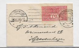 Nl307 / Niederlande, Tuberkulosemarke, 1 Cent Auf Drucksache 1907 Verwendet - Periode 1891-1948 (Wilhelmina)