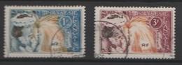 POLYNÉSIE FRANÇAISE :  N°YT 27 - 28 - OBLITÉRÉS. - Polinesia Francese