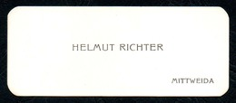 B7274 - Mittweida - Helmut Richter - Visitenkarte - Visitenkarten