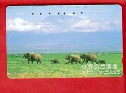 JAPAN   Phonecard  NTT -  Elephant - Télécartes