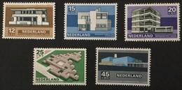 1969 Timbres D'été -architecture Néerlandaise Moderne - à Des Fins Sociales Et Culturelles Yv.888-892**) - Period 1949-1980 (Juliana)