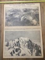 ANNEES 20/30 LA PHOTOGRAPHIE AERIENNE ALPES SOMMET DU MONT BLANC - Collections
