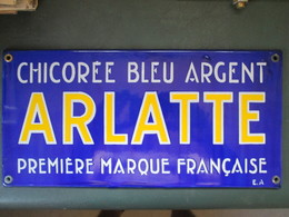 Ancienne Plaque Emaillee Chicoree Arlatte . Emaillerie Alsacienne - Signs
