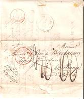 Préc. De BASTOGNE Du 11/1/1849 V/Ettelbruck Par ARLON-LUXEMBOURG Port 30 Barré 60 Arr. LUXEMBOURG - 1830-1849 (Independent Belgium)