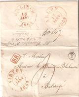 Préc. VIRTON 17/1/1839 Par ARLON - SR Bte T De LATOUR V/Birtrange C.arr. DIEKIRCH - 1830-1849 (Independent Belgium)