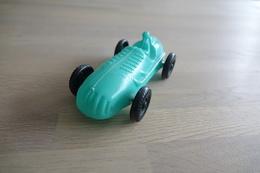 Vintage PLASTIC TOY CAR :  SPRINT CAR - 16cm - Apple Blue Sea Green - 1960 - Cars & 4-wheels
