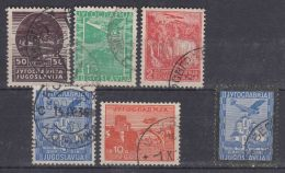 Yugoslavia Kingdom 1934 First Airmail Stamps Mi#278-282 And 1935 Mi#299 Used - 1931-1941 Königreich Jugoslawien