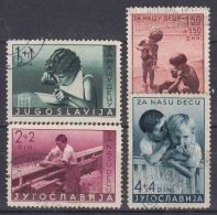 Yugoslavia Kingdom 1939 Mi#375-378 Used - 1931-1941 Königreich Jugoslawien