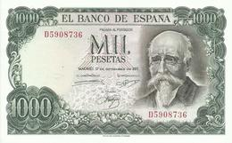 BILLETE 1000 PESETAS EMISION 17/9/1971 (SIN CIRCULAR) - [ 3] 1936-1975: Regime Van Franco