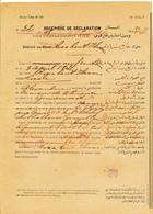 276/27 - THEME JUDAICA EGYPTE - RARE Déclaration De Maison De Tolérance à ALEXANDRIE En 1902 - Par Dame Rosa Bent Ibram - Timbres
