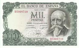 BILLETE 1000 PESETAS EMISION 17/9/1971 (SIN CIRCULAR) - [ 3] 1936-1975 : Regency Of Franco