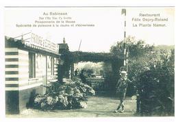 Copie D'une CPA : NAMUR Au Robinson, Sur L'Ile Vas T'y Frotte , Restaurant Depry Roland La Plante , Poissonnerie - Reproductions