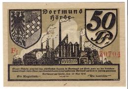 Deutschland Notgeld 50 Pfennig Tieste1465.05.05.27 DORTMUND /84M/ - [11] Local Banknote Issues