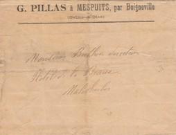91 - MESPUITS Par Boigneville - G.PILLAS     ( Enveloppe Seule ) - Postmark Collection (Covers)