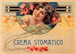 """08586 """"CALABRIA - CREMA STOMATICO - FIGURA FEMMINILE""""  XX SECOLO. ETICHETTA ORIG. - Altri"""