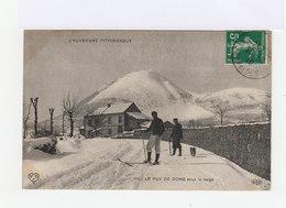 L'Auvergne Pittoresque. Le Puy De Dôme Sous La Neige. Avec Skieur. (3112) - France