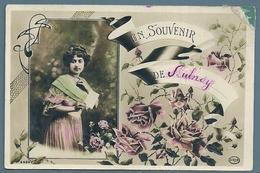 CPA - JEUNE FEMME - SOUVENIR DE AULNOY - Souvenir De...