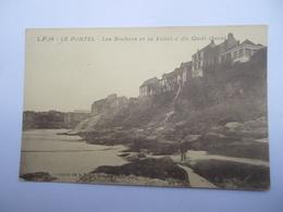 CPA 62 -  LE PORTEL LES ROCHERS ET LA FALAISE DU QUAI OUEST - Le Portel