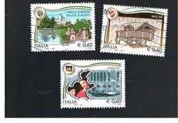 ITALIA REPUBBLICA  - UNIF. 3084.3087 -  2008  LE REGIONI ITALIANE, MOLISE, VENETO E VALLE D' AOSTA     - USATO - 2011-...: Usati