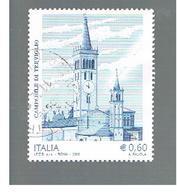 ITALIA REPUBBLICA  -   2008  CAMPANILE DI TREVIGLIO                -   USATO  ° - 6. 1946-.. Repubblica