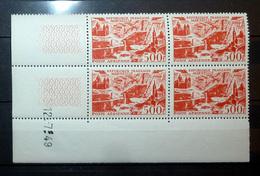 FRANCE COIN DATÉ POSTE AÉRIENNE 1949 N°27A ** (MARSEILLE. 500F ROUGE. COIN DATÉ DE 1949) - Coins Datés