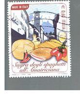 ITALIA REPUBBLICA  -   2008  SPAGHETTI ALL' AMATRICIANA       -   USATO  ° - 6. 1946-.. Repubblica