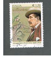 ITALIA REPUBBLICA  -   2008   G. PUCCINI   -   USATO  ° - 6. 1946-.. Repubblica