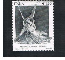 ITALIA REPUBBLICA  -   2007  A. CANOVA               -   USATO  ° - 6. 1946-.. Repubblica