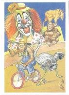 "CPM FRANCE THEMES ARTS - Cirque ""La Piste"" - Dessin Original De J. Juanola - Pintura & Cuadros"