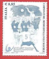 ITALIA REPUBBLICA SINGOLO NUOVO - 2010 - Campionati Del Mondo Di Pallavolo Maschile - € 0,85 - S. 3193 - 6. 1946-.. Repubblica