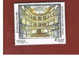 ITALIA REPUBBLICA  -  2002  TEATRO PERUGIA  - USATO ° - 6. 1946-.. Repubblica