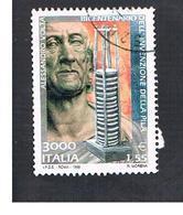 ITALIA REPUBBLICA  -  1999  A. VOLTA    - USATO ° - 6. 1946-.. Repubblica