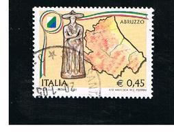 ITALIA REPUBBLICA  -  2004    REGIONI:  ABRUZZO            - USATO ° - 6. 1946-.. Repubblica
