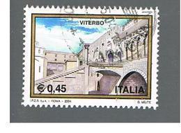 ITALIA REPUBBLICA  -  2004   TURISTICA:  VITERBO        - USATO ° - 6. 1946-.. Repubblica