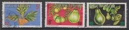 POLYNÉSIE FRANÇAISE :  Lot De 3 Timbres Sur Les Fruits - OBLITÉRÉS. - Polinesia Francese