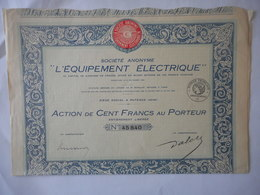 L'EQUIPEMENT ELECTRIQUE  PUTEAUX - Actions & Titres