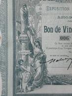 Exposition Universelle De 1900 , BON DE 20 FRANCS = TALON - Autres