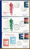 ITALIA - FDC 1968 - CAMPIONATI MONDIALI CICLISMO CYCLE VELO - TIMBRO DI ROMA E TIMBRO DI IMOLA - 6. 1946-.. Repubblica