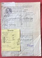 FERROVIE SOC.ITALIANA STRADE FERRATE MERIDIONALI  BOLLETTINO DI CONSEGNA  CHIASSO 19/6/1888 - Treni